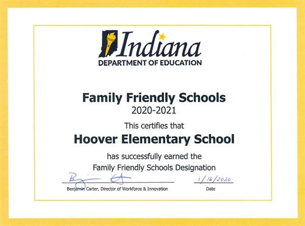 INDOE designates Hoover Family Friendly