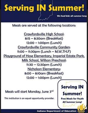Free Lunch Schedule